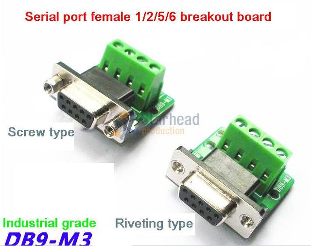 wholesale 10 pcs female db9 serial port to terminal rs232 to rs485wholesale 10 pcs female db9 serial port to terminal rs232 to rs485 terminals breakout board pin 1 2 5 6