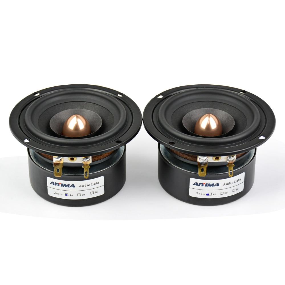 Aiyima 2 Unid 3 pulgadas altavoz de Audio 4Ohm 8Ohm 15 W altavoz de gama completa HIFI altavoz de graves mediantes DIY - 6