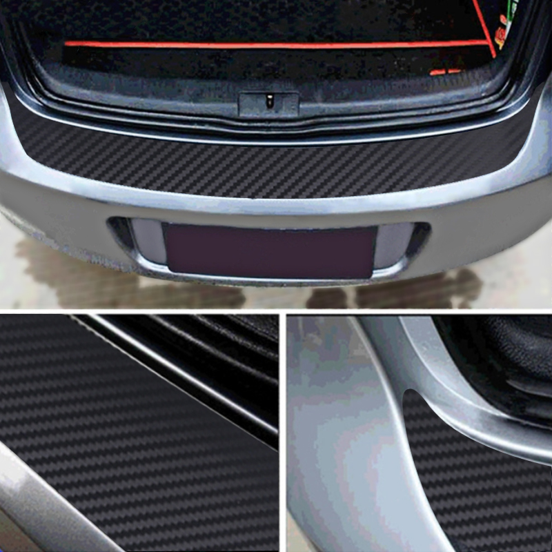 Auto Rear Bumper Trunk Tail Lip Carbon Fiber Protection Stickers Decal Car Styling For <font><b>Volkswagen</b></font> VW Golf MK7 7 GTI Accessory image