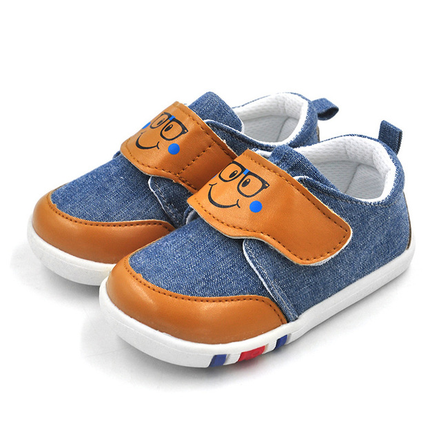 2017 Spring Rubber Soled Shoes Casual Baby Canvas Shoes Autumn Breathable  Crib Shoes