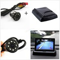 "NEW 4.3 ""DC 12 V/24 V Monitor de Retrovisor Do Carro Dual-Canal 2 Canal de Entrada com 2.8mm Lente IR Night Vision Camera Car Backup"