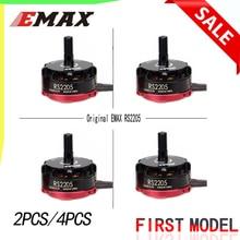 4pcs Original Emax RS2205 2300KV 2600KV Cooling Brushlessมอเตอร์Quad FPV QAV250 Drone CW/CCW (สีดำPROP NUT) RS2205
