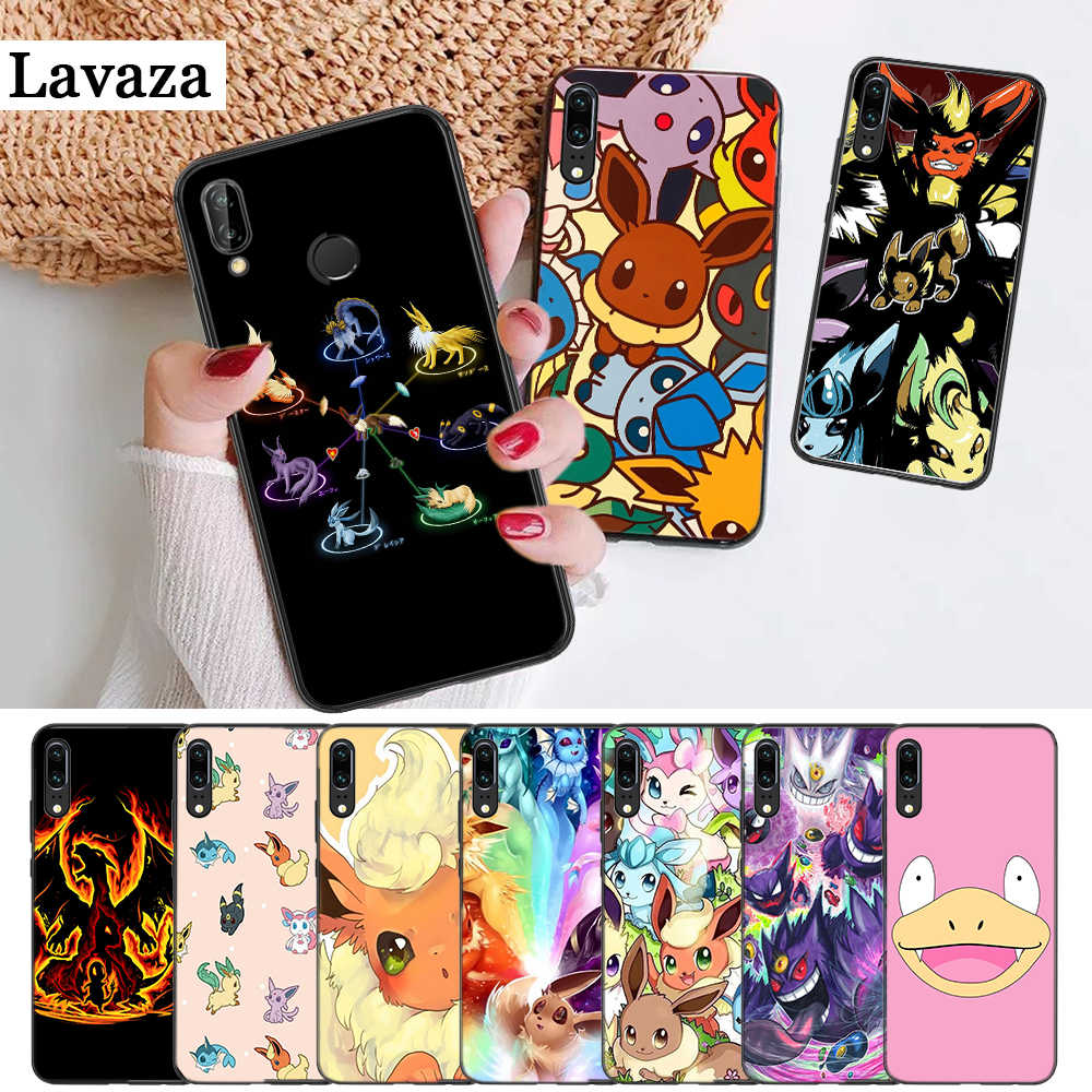 cartoon pokemons eevee pika Silicone Case for Huawei P8 Lite 2015 2017 P9 2016 Mimi P10 P20 Pro P Smart Z 2019 P30