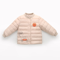 Boys Girls Down Liner Autumn Winter Duck Feather Ultra Light Jackets Baby WindProof Warm Down Coat