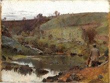 Unframed Canvas Prints - A Quiet Day On Darebin Creek - Tom Roberts