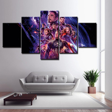 Movie Avengers: Endgame Hero Character 5 Piece Wall Art HD Picture Home Decoration For Living Room Printed Type Canvas Paintings