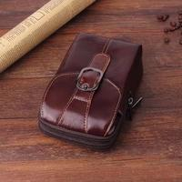 Belt Clip Man Genuine Cow Leather Mobile Phone Case Pouch For Asus Zenfone 4 Max,VKworld T1 Plus/G1 Giant,Wiko Tommy 2/U Pulse