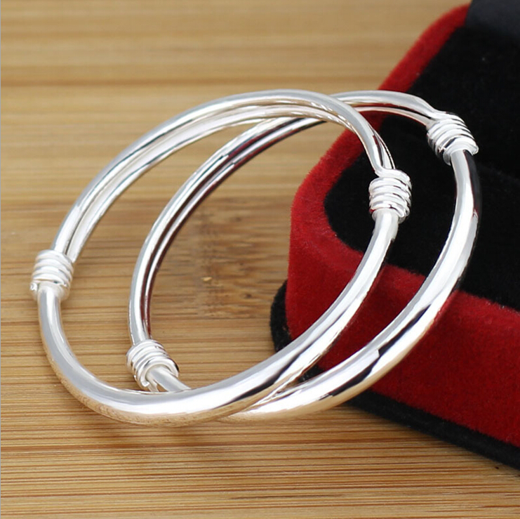 real solid 999 silver newborn baby girl jewelry, genuine silver ...