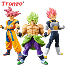 Tronzo Originele Banpresto Action Figure Dragon Ball Super Broly Full Power Goku Vegeta Rood Haar Pvc Figure Model Toys In voorraad(China)