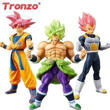 Tronzo figuras de acción originales de Banpresto, Dragon Ball Super Broly, Goku, Vegeta, figura de PVC en miniatura de pelo rojo, juguetes en Stock