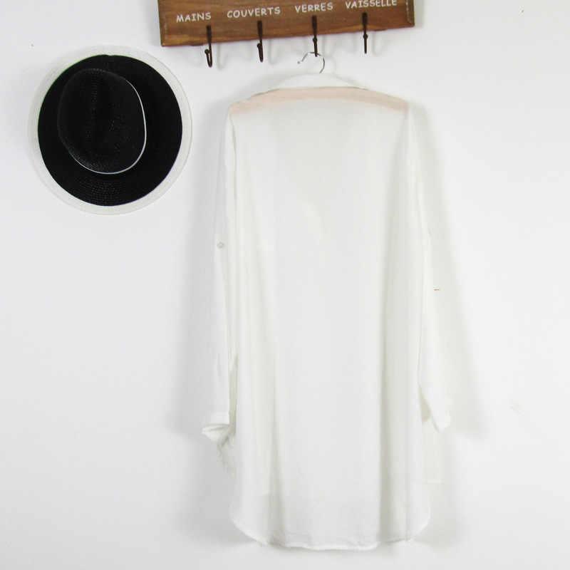 581c3d03724576 ... Departure Beach Dresses Wear Cover Up Beachwear For Women Shirt And  Tunics Lace Coverups 2018 Chiffon