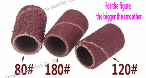 Image 2 - 100pcs Sanding Bands Nail Power Drill Accessories Electric Drill Bits Sandcloth Refillable Sanding Sleeves Replacement 6.35 12.7