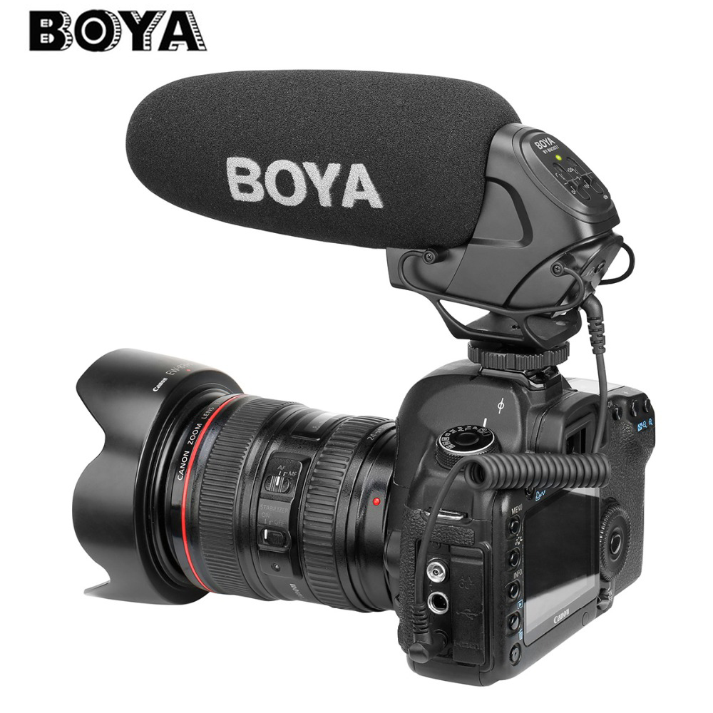 BOYA BY-BM3031 Shot gun microfono condensatore super-cardioide Studio Video intervista Mic per Nikon Canon Sony DSLR Camera PK Rode