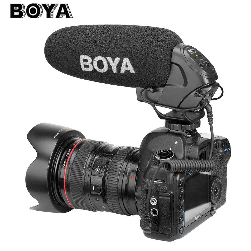BOYA BY-BM3031 tir pistolet Microphone Super-cardioïde condensateur Studio vidéo entretien micro pour Nikon Canon Sony DSLR appareil photo PK Rode