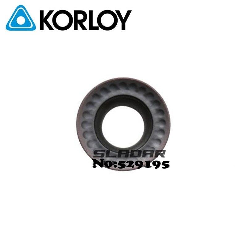 Korloy RPMT10T3MO-Q KF5800 PC5300 RPMT1204MO-Q KF5800 PC5300 RPMT10T3 RPMT1204 RPMT Carbide Inserts Milling Insert CNC Lathe
