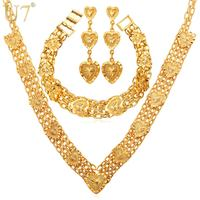 2014 New Heart To Heart Necklace Set For Women 18K Real Gold Plated Fashion Jewelry Necklace