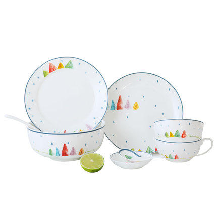 Fresh Drawing Plates Tableware Dessert Dinnerware Set Bone China Dishes Bowl Spoon Banquent Wedding Decoration Free Shipping-in Dishes \u0026 Plates from Home ...  sc 1 st  AliExpress.com & Fresh Drawing Plates Tableware Dessert Dinnerware Set Bone China ...