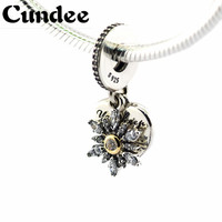 Snowflake Heart Pendant Beads Fit Pandora Charms Silver 925 Original Bracelet Fashion DIY Jewelry NEW Christmas