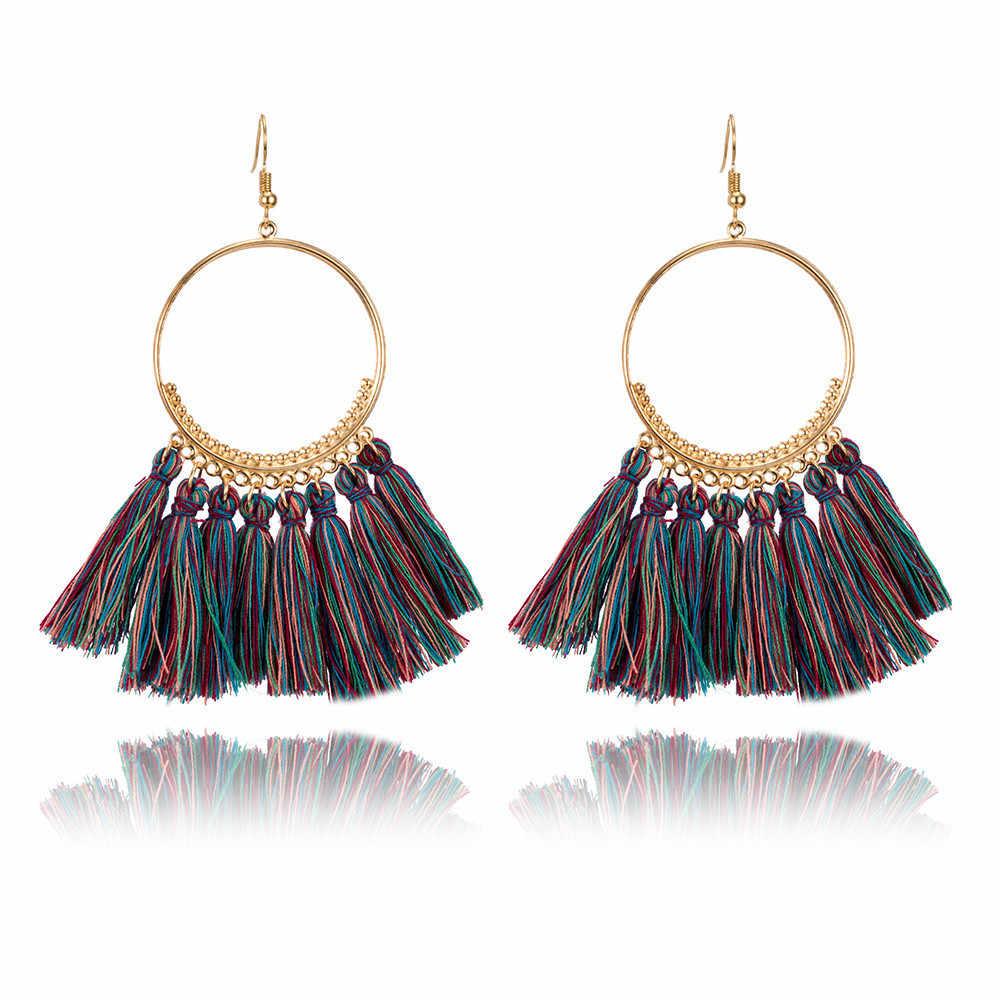 Tua Rua tuyên bố Bông tai 2019 mùa hè dài đính hạt handmade cho lớn tòn ten earing trang sức thời trang hợp thời trang bán buôn