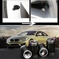 Реальные Углеродного Волокна Хром Метал Колеса Автомобиля Шин Шин Клапан Крышки для BMW F30 E90 X5 F15 F15 F16 E70 X6 E71 X3 F25 F26 X4 F10 F07