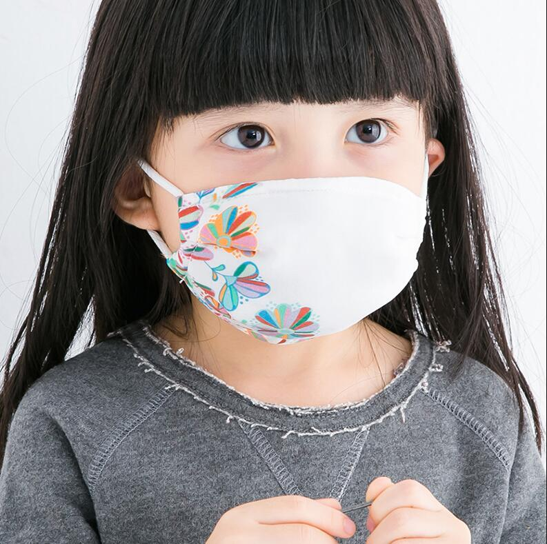 Children's Spring Summer 100% Silk Sunscreen Mask Kids Boy Girl PM 2.5 Breathable Silk Mouth-muffle R1511