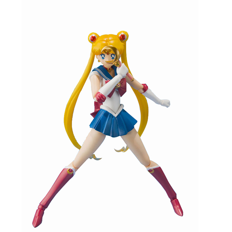 15cm Sailor moon  action figurine  2016 New Japaness anime sailor moon March Hare Super movable joints figuarts party decoration hot sale sailor where sailor moon march hare lemon yellow synthetic hair cosplay wig