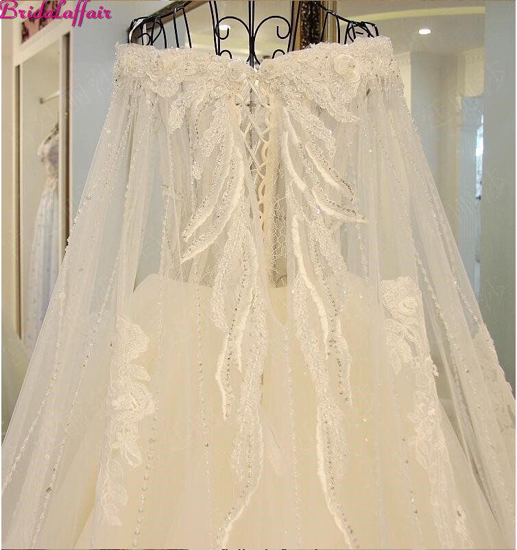 Image 3 - Real Image Luxury Wedding Dresses 2019 Vsetido De Novia Crystals Lace Wedding Dresses Beading Appliques Royal Train Bridal Gowns-in Wedding Dresses from Weddings & Events
