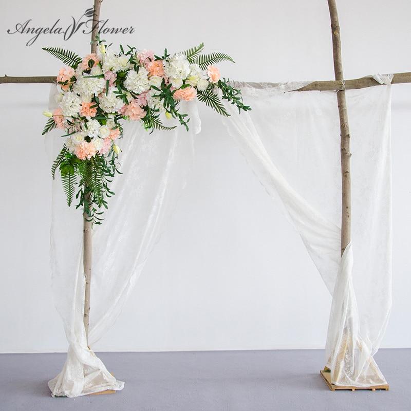 Wedding Stage Flower Decoration: European Style Wedding Stage Background Artificial Flower