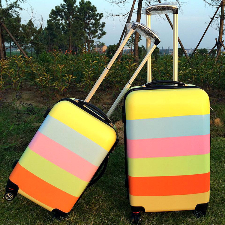 Candy color universal wheel rolling suitcase luggage on board boxes Men and women fashion new suitcase