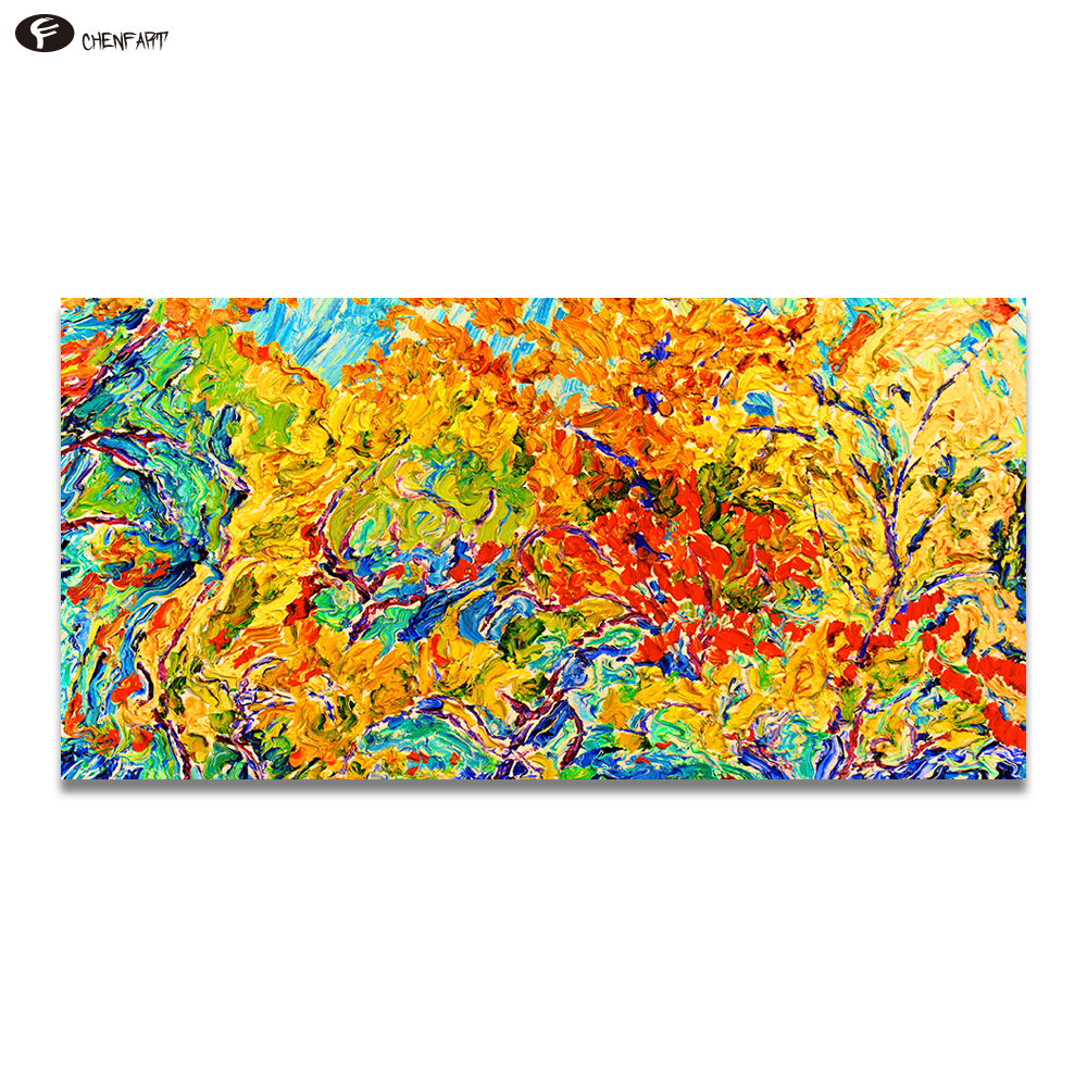 CHENFART Canvas on the Wall Home Decor The Autumn Leaves Are Turning To The Colour Of Her Hair Wall Art