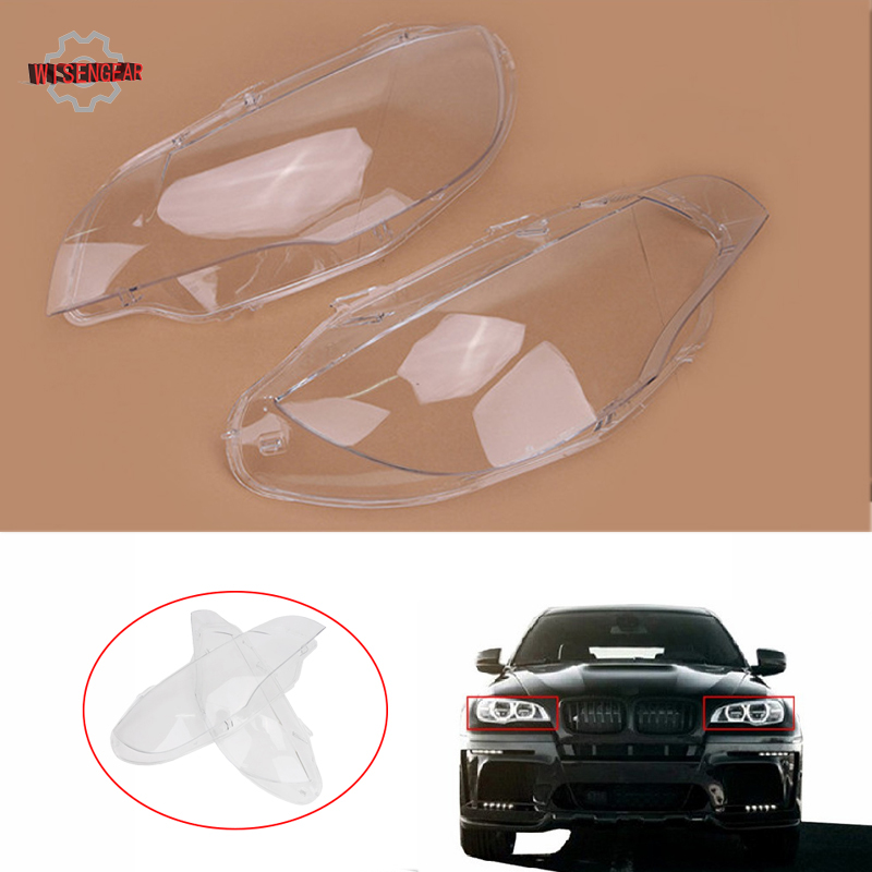 Competent Headlight Cover Head Light Lamp Lampshade Lens Shell Housing For Bmw X6 E71 2007 - 2010 Facelift 2011-2014 X5m E70 / Skilful Manufacture