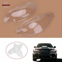 Headlight Cover Head Light Lamp Lampshade Lens Shell Housing For BMW X6 E71 2007 2010 Facelift 2011 2014 X5M E70 /