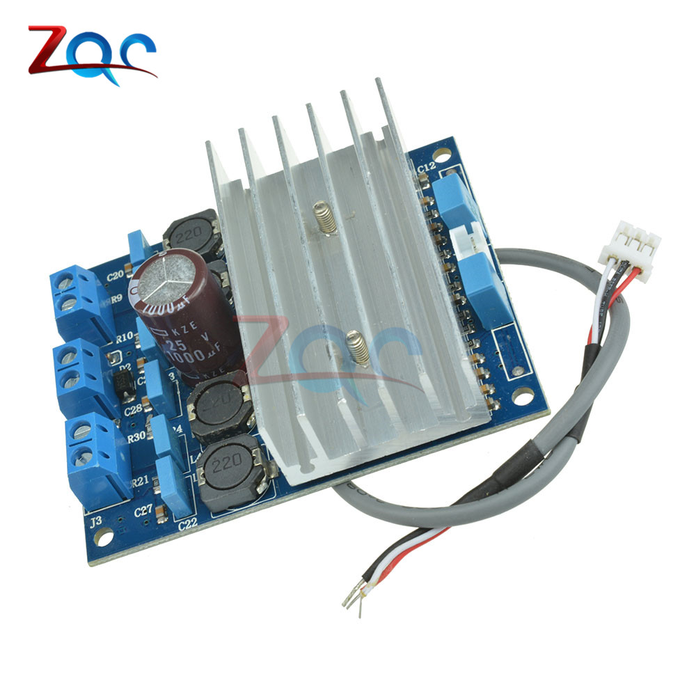TDA7492 2 x 50W D Class High-Power Digital Amplifier Board AMP Board With Radiator starfish fishing net wood grain nautical shower curtain page 6