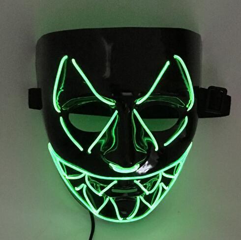 New font b El b font Wire Light Up font b LED b font V Mask