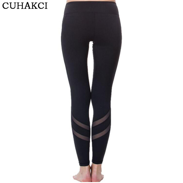 Athleisure Leggings Women Mesh Splice Fitness Slim Black Legging Sportswear Clothing New Workout Leggins Hot Bodybuilding K159