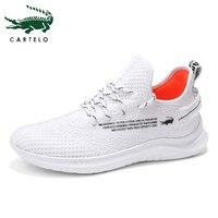 CARTELO chaussures pour hommes baskets légères décontracté hommes chaussures Sport formateurs blanc respirant doux confortable mode Simple