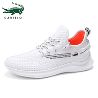 CARTELO Men's Shoes Lightweight Sneakers Casual Mens Shoes Sport Trainers White Breathable Soft Comfortable Fashion Simple