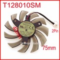 EVERFLOW  T128010SM 75mm 12V 0.2A For Gigabyte N470SO N580UD N580SO GTX460 GTX470 GTX580 HD5870 Graphics Card Cooling Fan