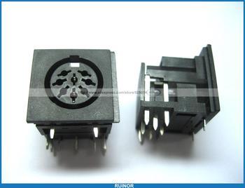 50 x circular din jack femminile pin pcb connettore di montaggio RUINOR