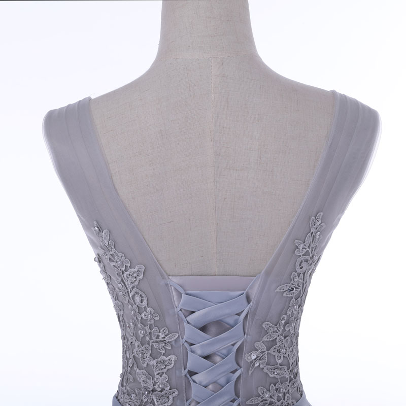 Produs FADISTEE Elegant Long Bridesmaid Dresses Appliques Lace beading lace-up  style Wedding Party Dress Under 50  - b7b31392e73a