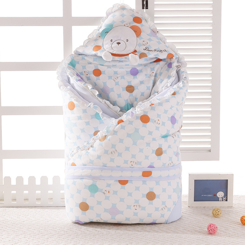 110*110cm Big Size Thickened Baby Blanket Envelope for Newborn baby 100% Cotton soft swaddle Baby Bedding Throw Blanket AB108
