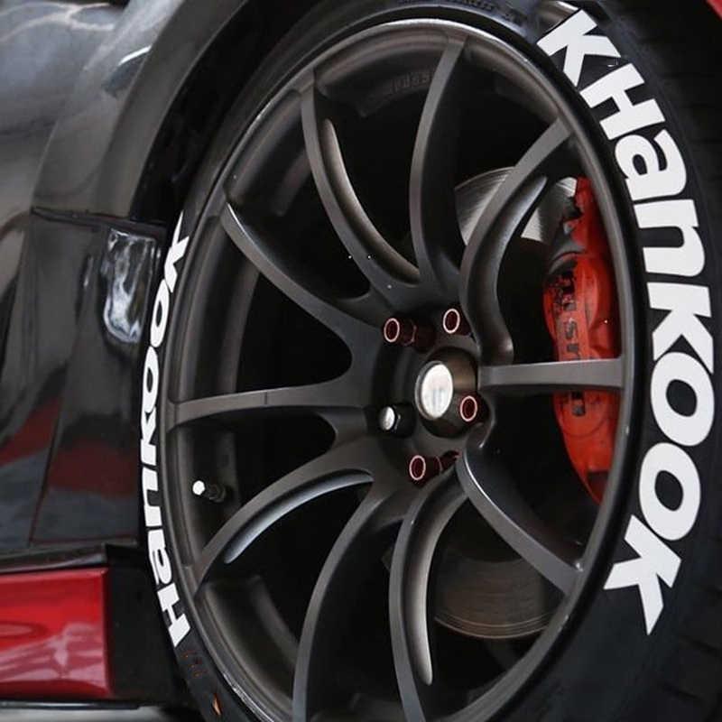 Luminous Car Tire 3D Permanent Lettering Stickers Decor Strip Reflective Decal