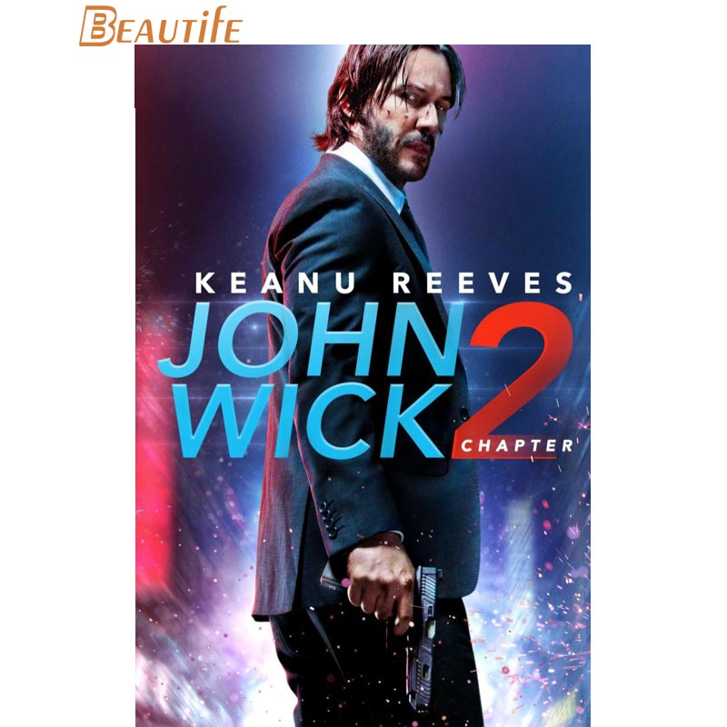 Hot Sale Custom John Wick Poster Home Decoration Fashion Silk Fabric Wall Poster Custom Poster ...