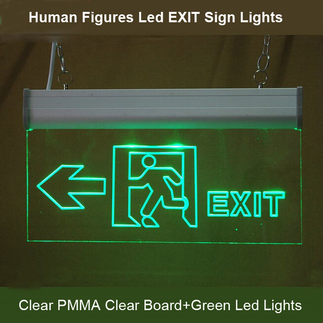 Human Figures Led Exit Light Led Emergency Exit Light