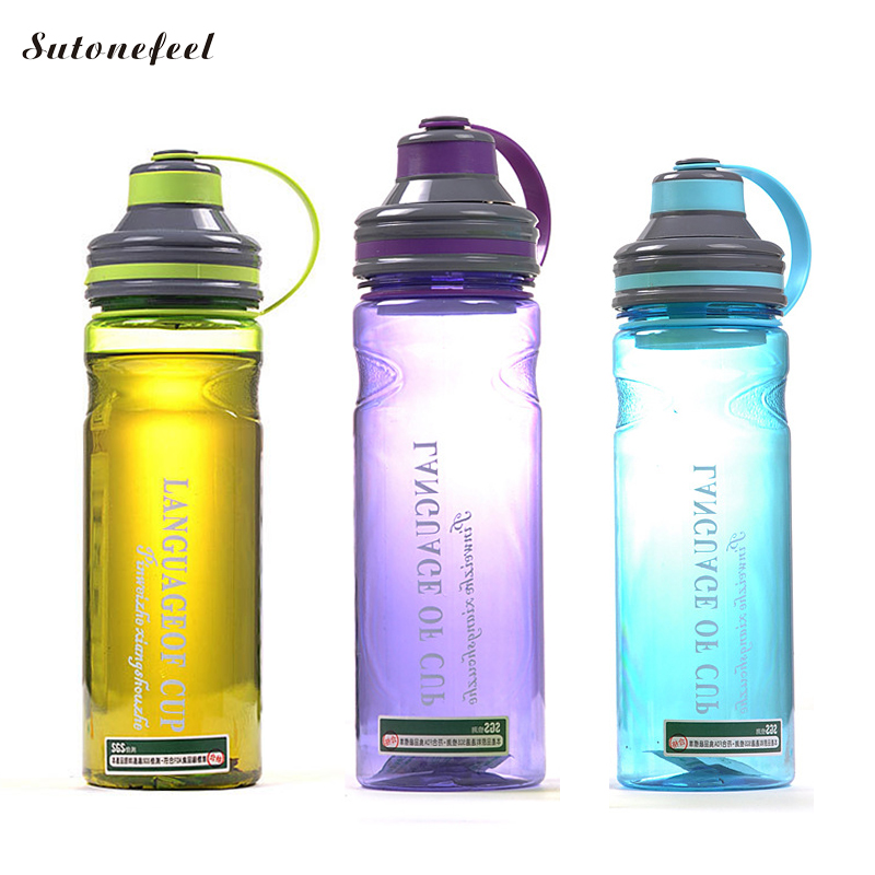 1000ML Sports Water Bottle Protein Shaker Leak Proof Travel Hiking Drink Bottle Large Capacity DrinkWare BPA Free