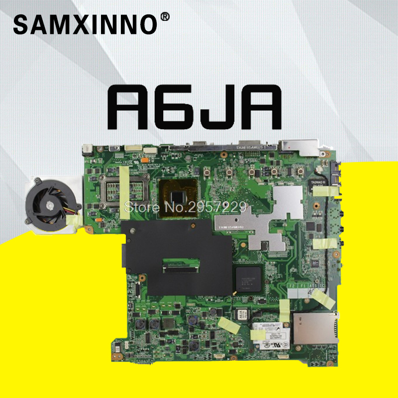A6JA Mainboard For ASUS A6J A6JA A6JC A6JM Z92J Laptop Motherboard 100% Tested Motherboard S-6A6JA Mainboard For ASUS A6J A6JA A6JC A6JM Z92J Laptop Motherboard 100% Tested Motherboard S-6