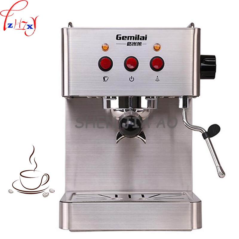 Commercial Stainless Steel Multi Function Semi automatic Italian Coffee Maker 15bar Steam Grilled Coffee Maker 220V 1450W 1pc