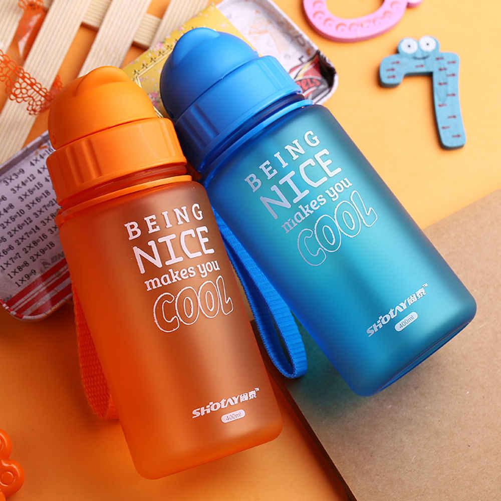 400 мл детский Поильник с соломинкой питьевой Кормление чашки Портативный соски бутылка Флип крышка ребенка утечки-poof пластик чашку