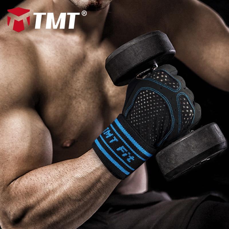 TMT sporta cimdi hantele Half Finger Fitness Fingerless sporta - Fitnesa un kultūrisms