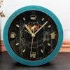 European Retro Pastoralism Style 3D Metal Coffee Cup Desk Clock Alarm Clock Silent Clock Home Decor